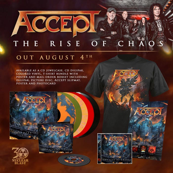 Order ACCEPT The Rise of Chaos Released August 4th