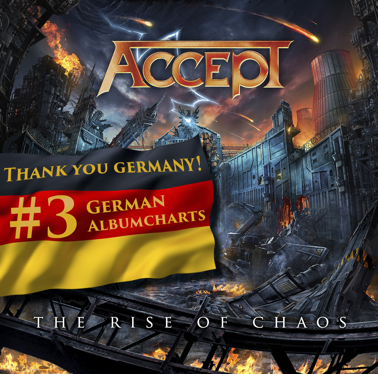The Rise Of Chaos Debuted at #3 on the German Album Charts