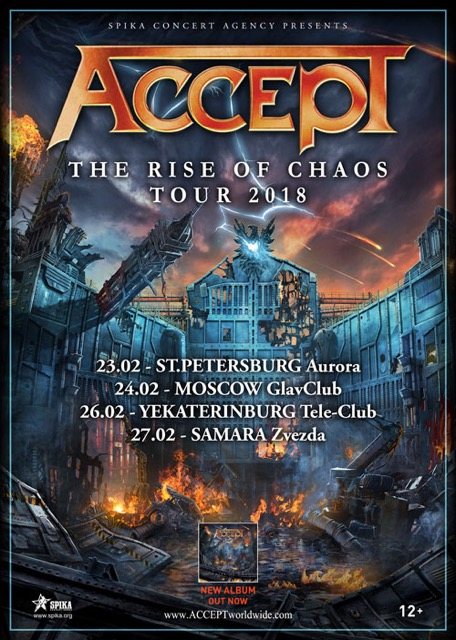 ACCEPT in Russia for The Rise Of Chaos Tour 2018