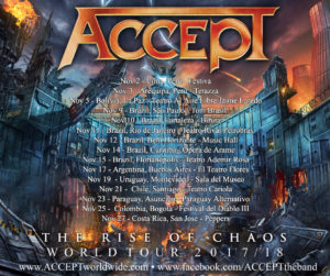 ACCEPT The Rise of Chaos South America Tour 2017