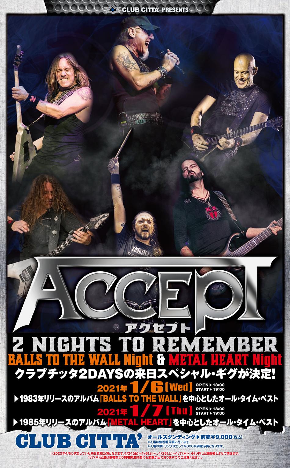 Accept @ Club Citta, Kawasaki, Japan 2021